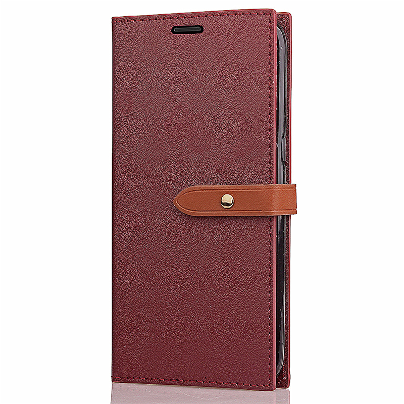 Samsung Note 8 Inner-TPU Shockproof PU leather Wallet Stand Case Cover with Card Slots - Red