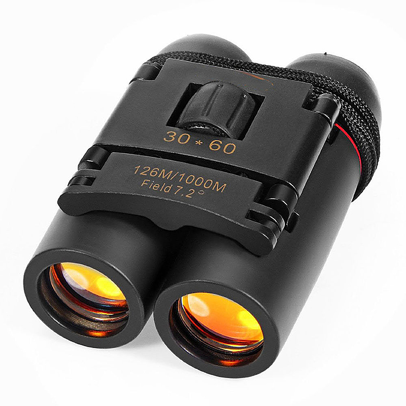 30x60 Outdoor Travel Day Night Vision Folding Binoculars Telescopes - Black