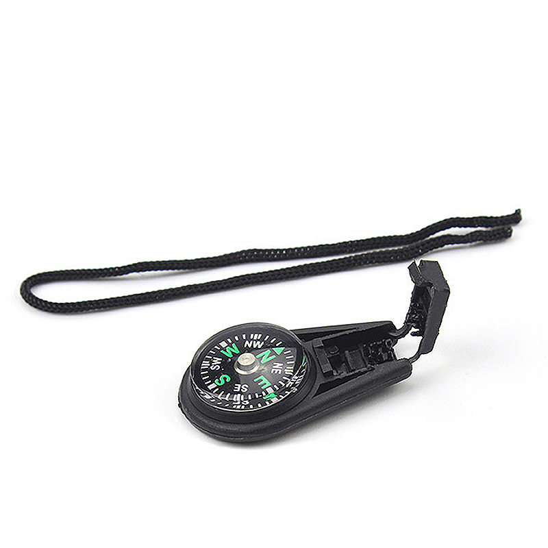 Keychain Mini Pocket Compass Navigator Emergency Map Guide for Outdoor Camping Hiking Hunting