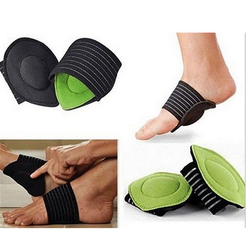 1 Pair Foot Arch Support Plantar Fasciitis Heel Pain Aid Feet Cushioned Wraps