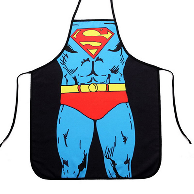 Funny Cooking Kitchen Apron Novelty Sexy Dinner Party Aprons - Superman