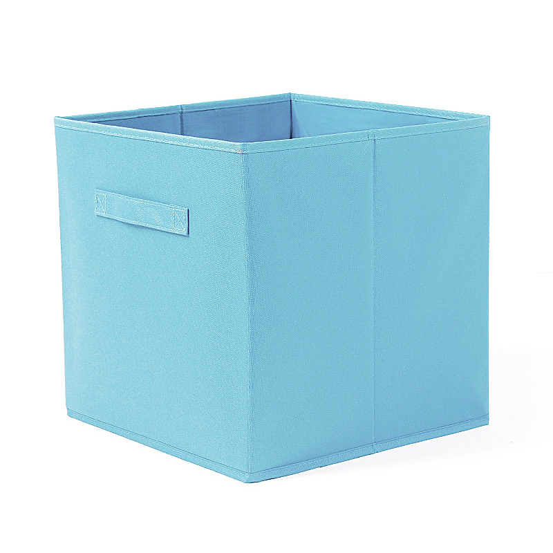 27x27CM Foldable Storage Box Collapsible Folding Home Clothes Toys Books Organizer - Blue