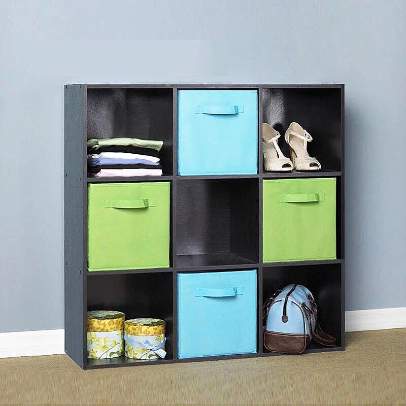 27x27CM Foldable Storage Box Collapsible Folding Home Clothes Toys Books Organizer - Blue