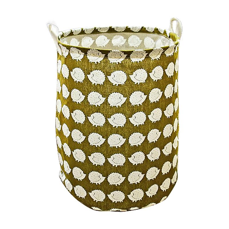 40x50CM Animal Forest Laundry Basket Large Foldable Clothes Toys Organizer Storage Bins - Hedgehog
