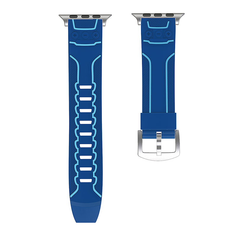 42mm Apple Watch Silicone Sport Watch Band Strap for Apple Watch Series 2/1 - Blue
