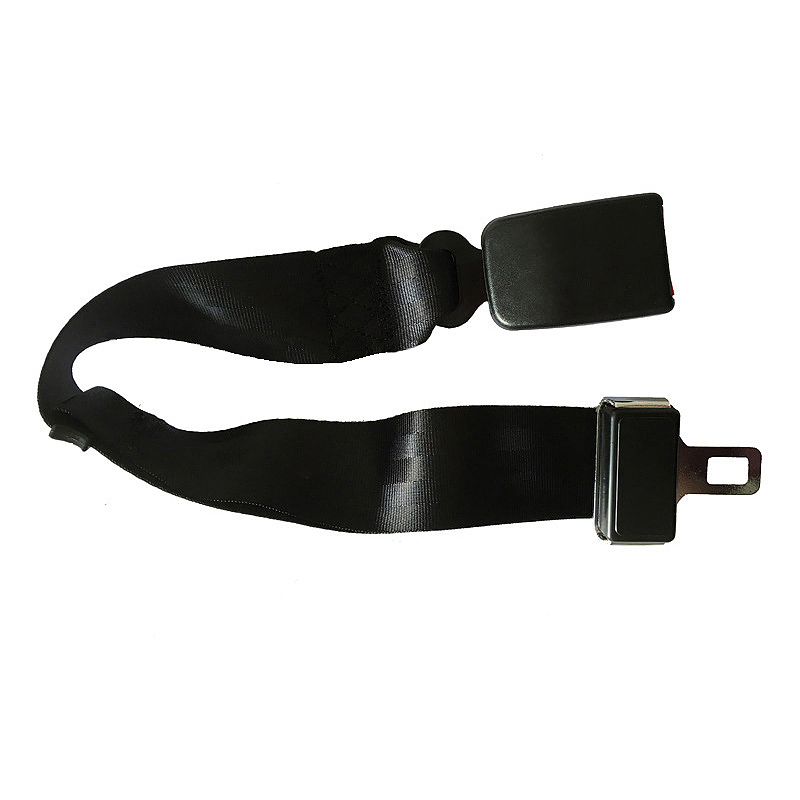 2.2CM-Wide Buckle Car Seat Belt Extender Safety Adjustable Extension Belt - Black