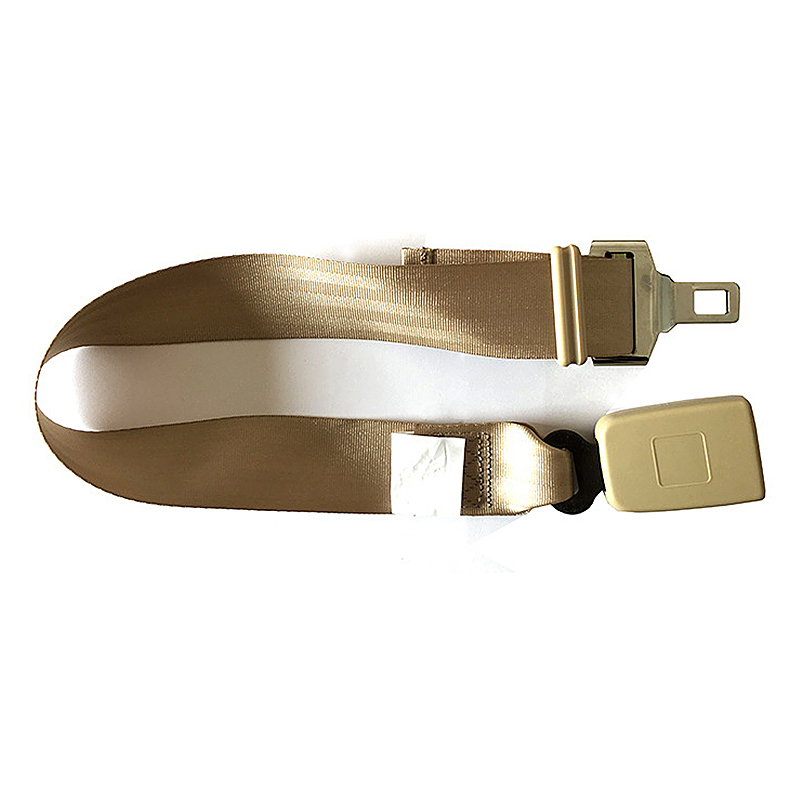 2.5CM-Wide Buckle Car Seat Belt Extender Adjustable Safety Seatbelt Extension Strap - Beige