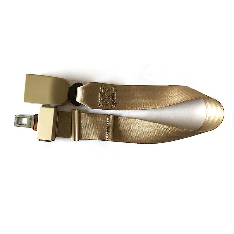 2.5CM-Wide Buckle Car Seat Belt Extender Adjustable Safety Seatbelt Extension Strap - Beige