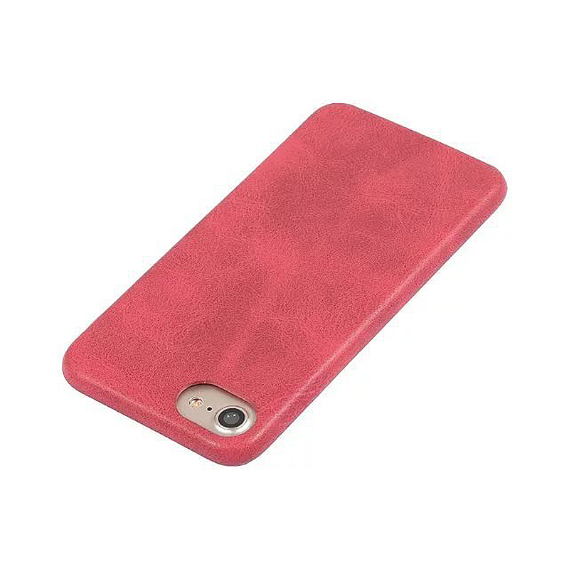 Ultra Slim Thin PU Leather Shockproof Case Back Cover for iPhone 7/8 - Red