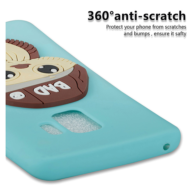 Samsung S9 3D Cartoon Owl TPU Case Soft Flexible Rubber Shockproof Back Cover - Blue