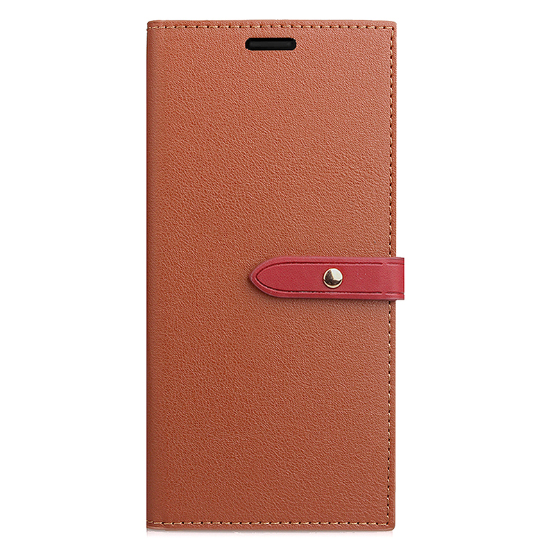 Samsung PU Leather Phone Cover Magnetic Protective Case with Card Slots Stand Holder for Samsung S9 - Brown