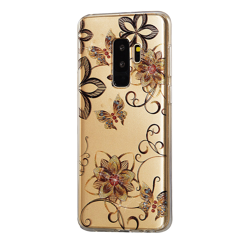Clear Printed Rubber Case Soft Tpu Shiny Decor Phone Cove For