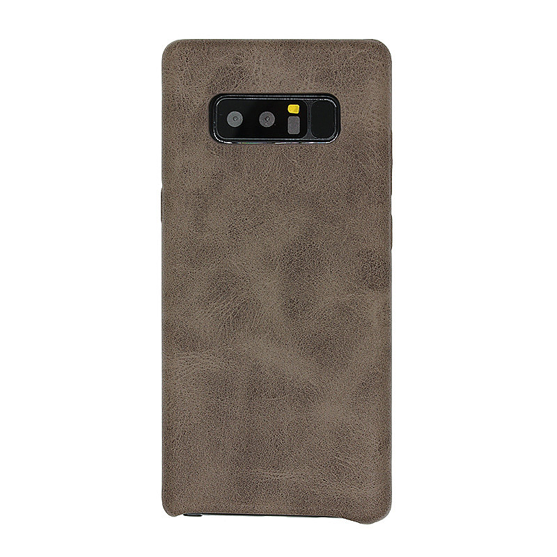 Super-Thin Retro Vintage PU Leather Protection Case Back Cover for Samsung Note 8 - Brown