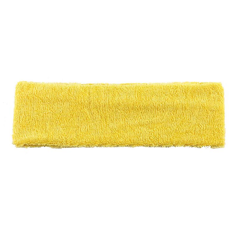 Unisex Sports Cotton Sweatband Headband Fashion Yoga Gym Stretch Hair Band - Yellow