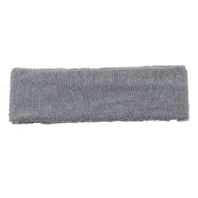 Unisex Sports Cotton Sweatband Headband Fashion Yoga Gym Stretch Hair Band - Grey