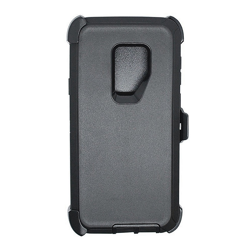 Shockproof Dirtproof Hybrid Hard Phone Cover TPU Rugged Armor Case for Samsung S9 - Black