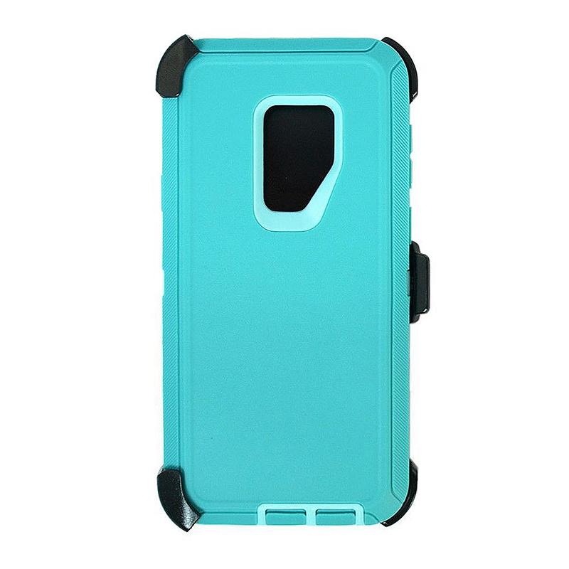 Shockproof Dirtproof Hybrid Hard Phone Cover TPU Rugged Armor Case for Samsung S9 - Blue
