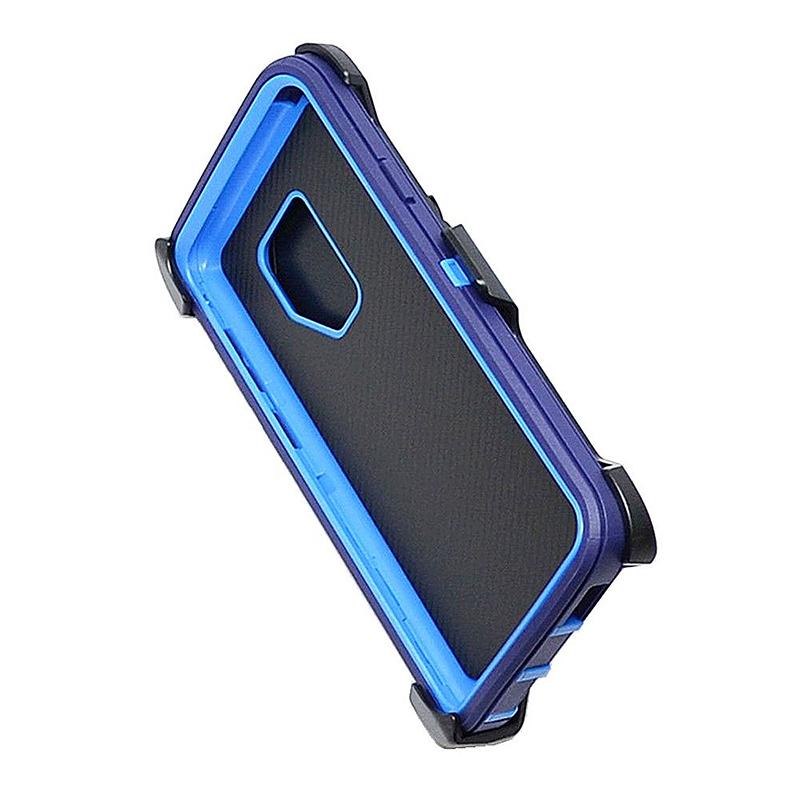 Shockproof Dirtproof Hybrid Hard Phone Cover TPU Rugged Armor Case for Samsung S9 - Dark Blue