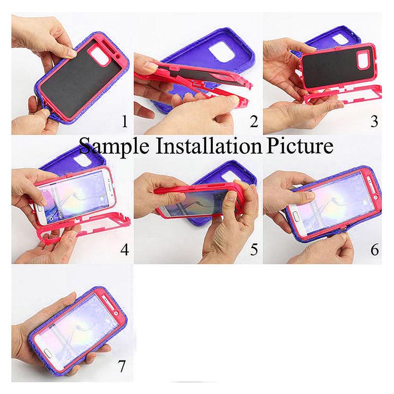 Shockproof Dirtproof Hybrid Hard Phone Cover TPU Rugged Armor Case for Samsung S9 - Purple + Pink