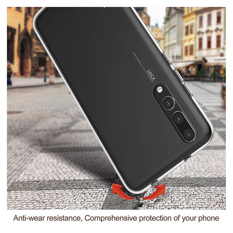 Ultra-thin Crystal Clear Soft TPU Anti-slip Shockproof Case Back Cover for Huawei P20 Pro