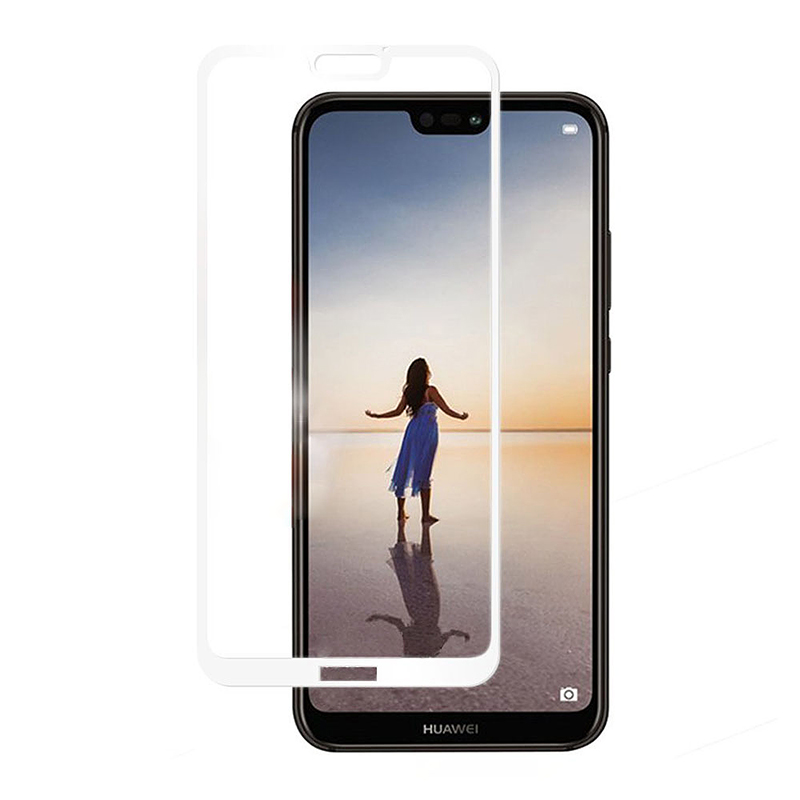 9H Hardness HD Clear Tempered Glass Screen Protector for Huawei P20 Lite - White