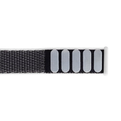 38mm Apple Watch Band Sports Loop Woven Nylon Watchband Strap for iWatch Series 3/2/1 - White + Grey