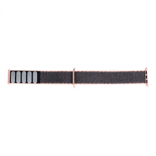 38mm Apple Watch Band Sports Loop Woven Nylon Watchband Strap for iWatch Series 3/2/1 - Pink