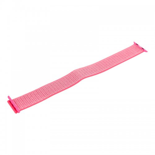 38mm Nylon Woven Replacement Watchband Adjustable Sport Loop Wrist Strap for Apple Watch - Brilliant Pink