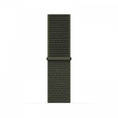 38mm Nylon Woven Replacement Watchband Adjustable Sport Loop Wrist Strap for Apple Watch - Army Green