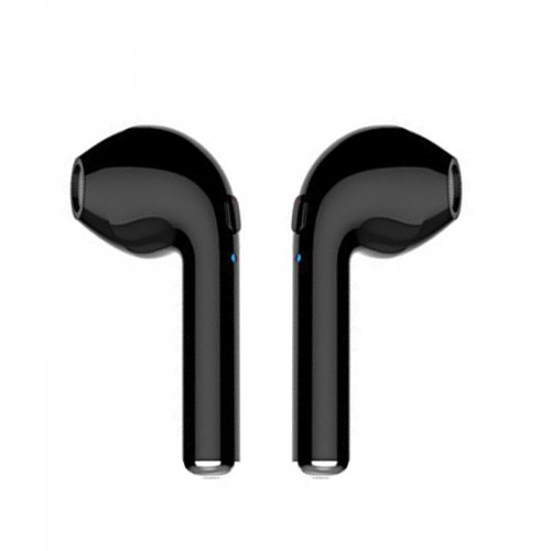 1 Pair Bluetooth Earbud Wireless Headset In Ear Sport Earphones for Apple iPhone 7 8 - Black