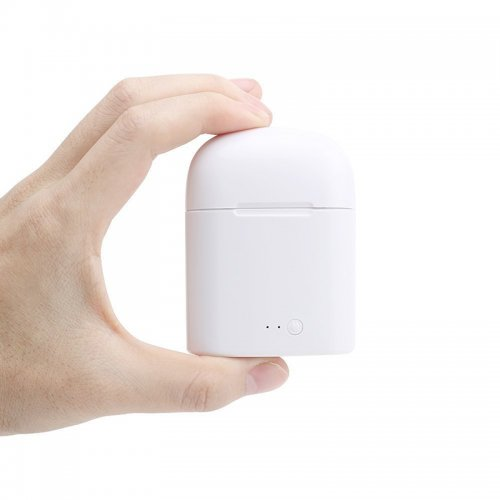 1 Pair Bluetooth Earbud Wireless Headset In Ear Sport Earphones for Apple iPhone 7 8 - Black