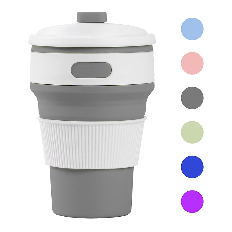 Details about Folding Silicone Cup Portable Silicone Telescopic Collapsible Coffee Cup New