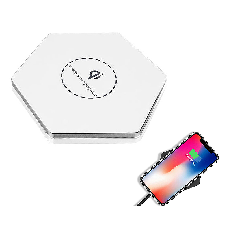KD03 Qi Fast Wireless Charger Slim Thin Portable Charging Dock Pad - White