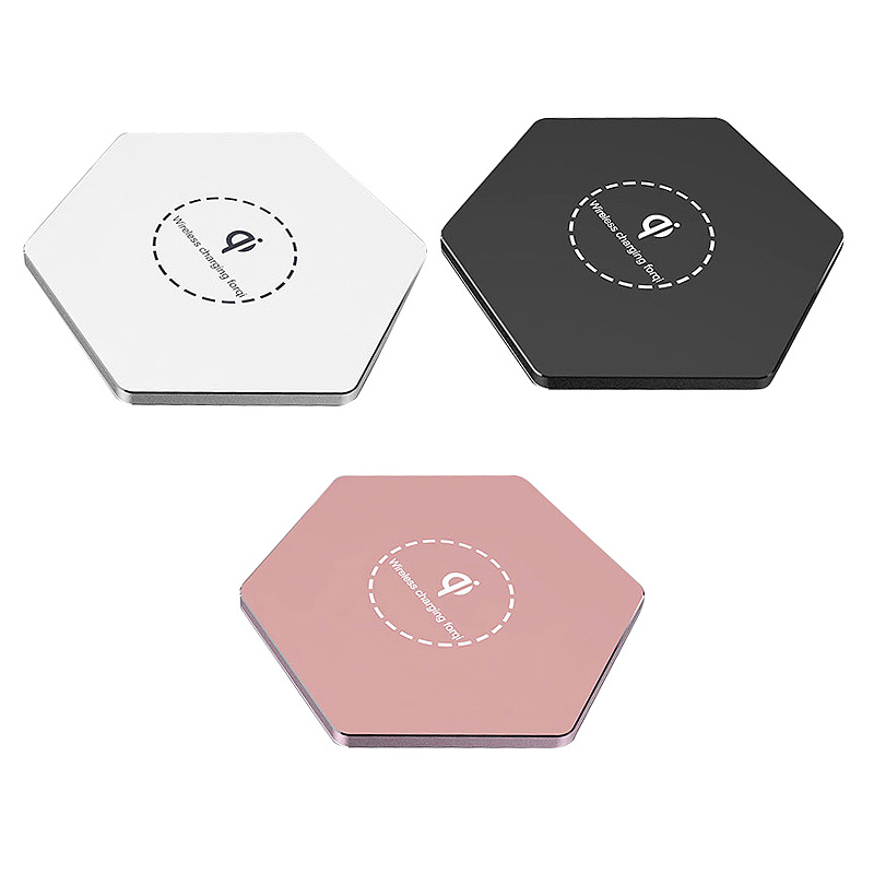 KD03 Qi Fast Wireless Charger Slim Thin Portable Charging Dock Pad - Rose Golden