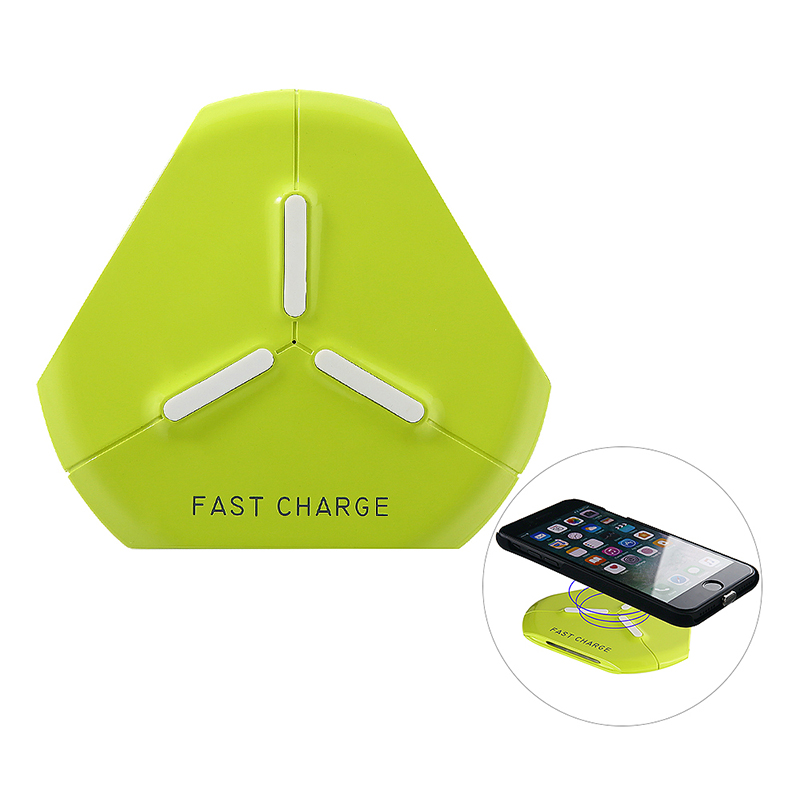 Q500 Qi Fast Wireless Charger Charging Pad for Samsung S8/S8 Plus Note 8 iPhone X/8 - Blue