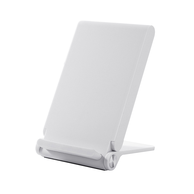 T100 Fast Wireless Charger Foldable Portable Charging Pad with Stand Function - White