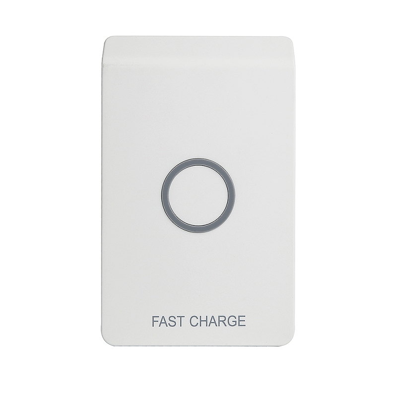 Qi Q200 Fast Wireless Charger Charging Dock Pad with LED Indicator for Smartphones - White
