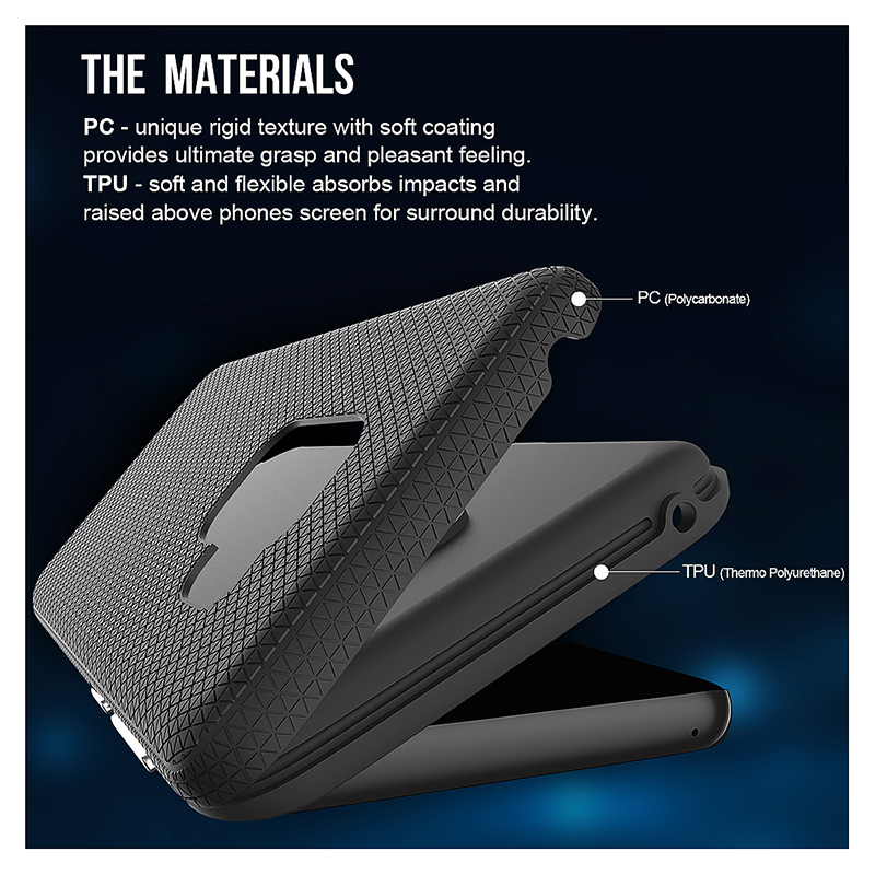 Dual Layer Shockproof Armor Case Back Cover for Samsung Galaxy S9 - Black