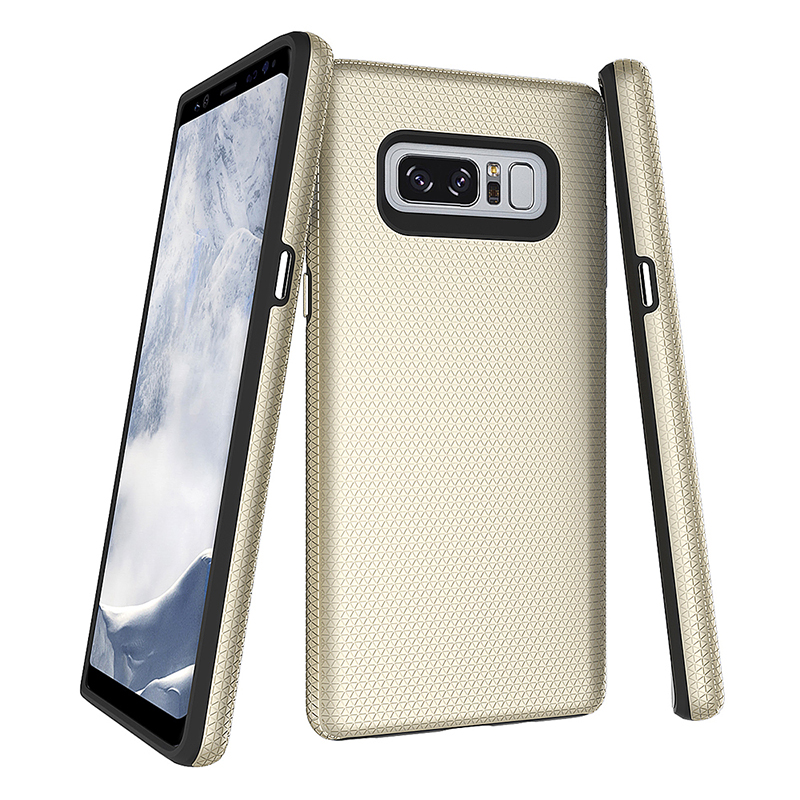 Samsung Note 8 PC+TPU Double Layers Shockproof Armor Case Back Cover - Golden