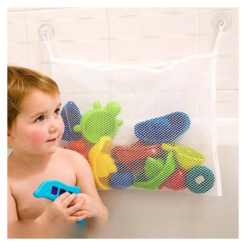 45*35CM Kids Baby Bath Time Toy Storage Bathroom Foldable Tidy Toys Mesh Bag Net