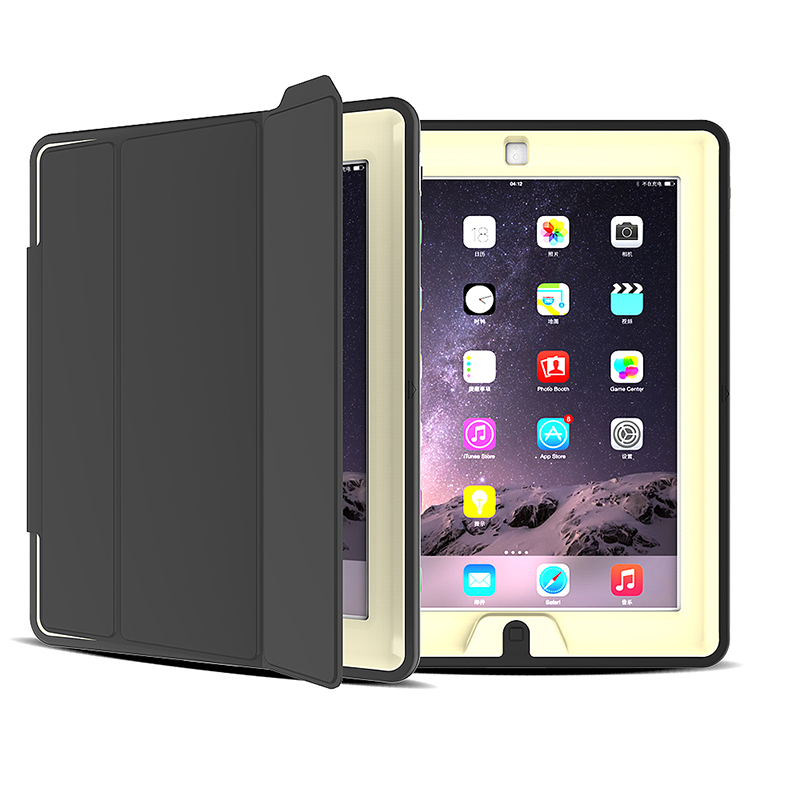 Slim Magnetic Smart Fold Flip Stand Case Cover Protector for Apple iPad 2/3/4 - Grey