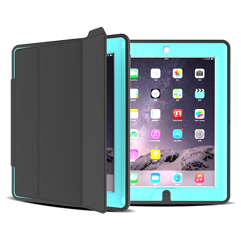 Slim Magnetic Smart Fold Flip Stand Case Cover Protector for Apple iPad 2/3/4 - Light Blue