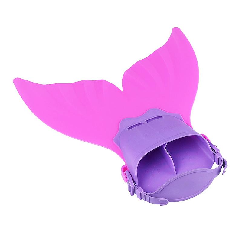 Mermaid Tails Swim Fin Adjustable Monofin Diving Swimming Foot Flipper for Kids Children - Pink