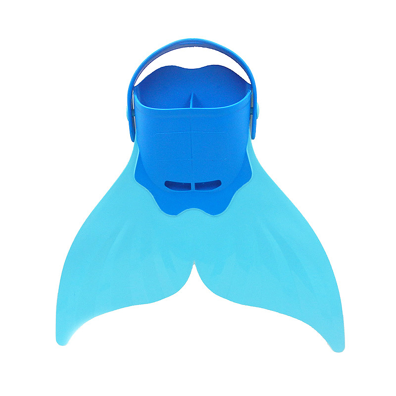Mermaid Tails Swim Fin Adjustable Monofin Diving Swimming Foot Flipper for Kids Children - Blue