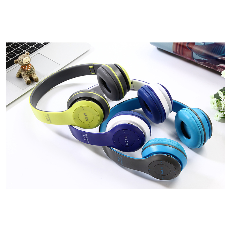 ST3 Wireless Bluetooth Headset Stereo Adjustable On-ear Headphone Earphone - Light Blue