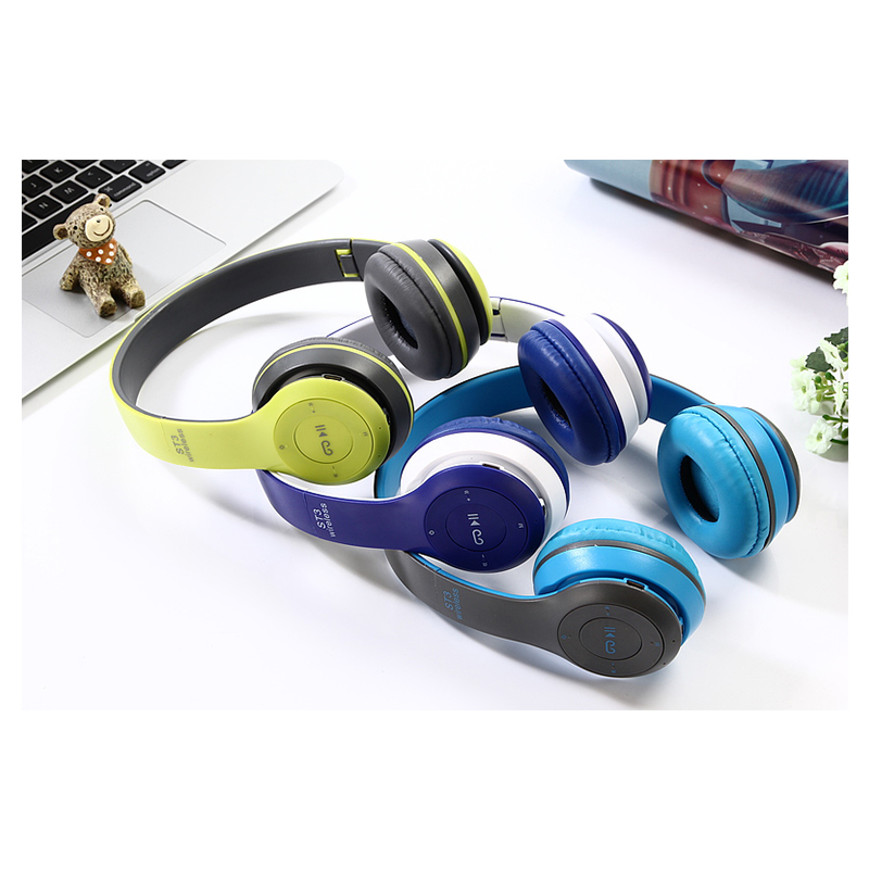 ST3 Wireless Bluetooth Headset Stereo Adjustable On-ear Headphone Earphone - Green