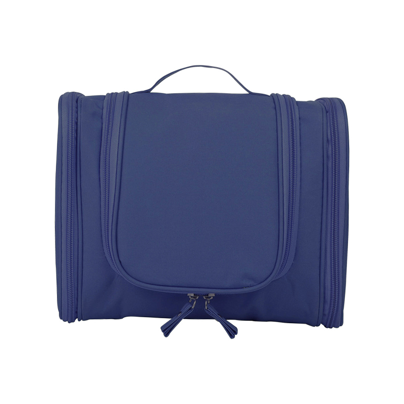 Waterproof Hanging Toiletry Bag Portable Travel Toilet Wash Cosmetic Makeup Suitcase Organizer - Navy Blue