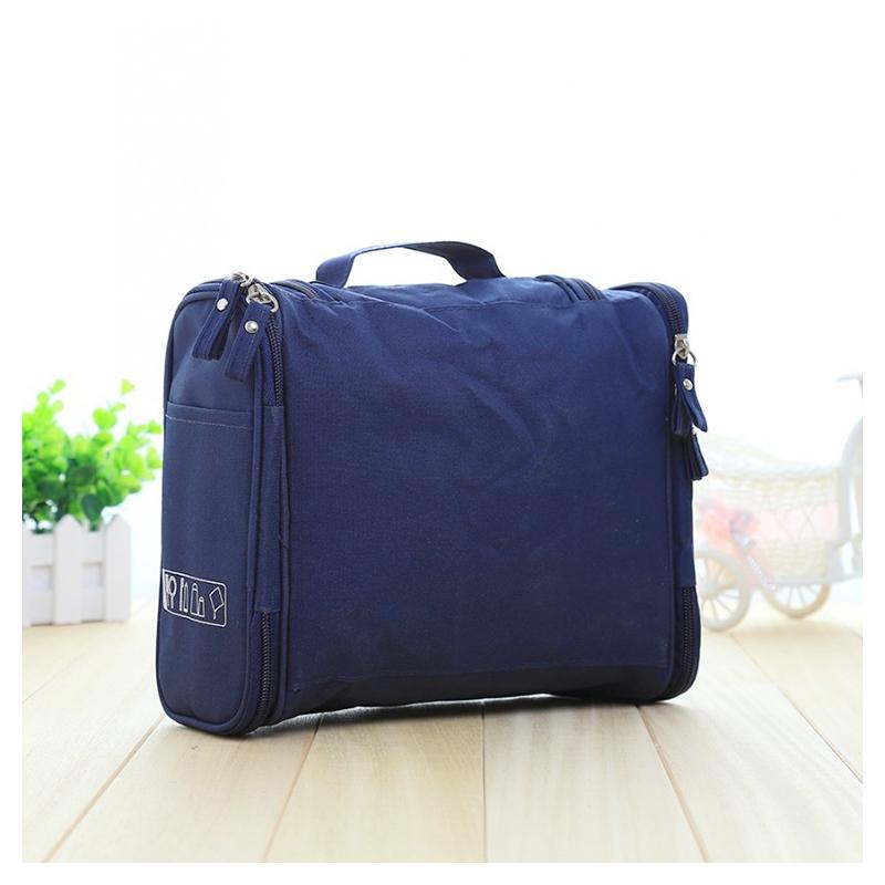 Waterproof Hanging Toiletry Bag Portable Travel Toilet Wash Cosmetic Makeup Suitcase Organizer - Navy Blue