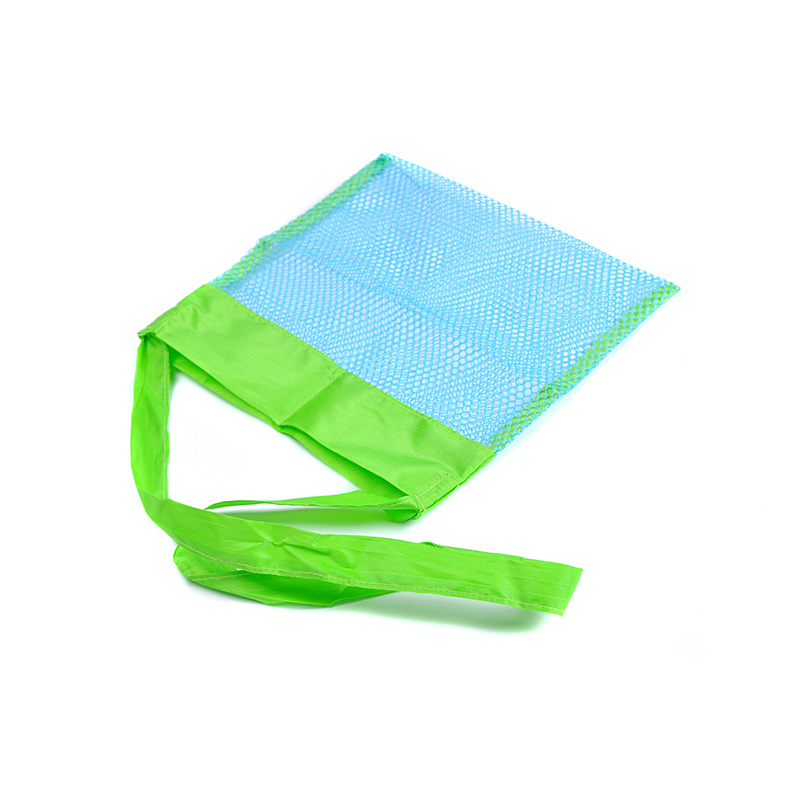 Small Kids Children Beach Bag Sand Away Tote Mesh Toys Storage Backpack - Blue