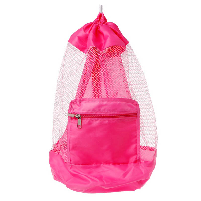 2fc7fa1269d0 Wholesale Children Kids Folding Mesh Beach Bag Toys Storage Backpack ...